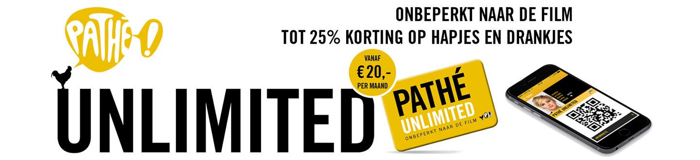 Onbeperkt naar de film met het Pathé Unlimited abonnement!
