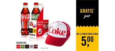 Gratis pet bij Coca-Cola