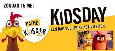 Zondag 15 mei - Pathé Kids Day met Angry Birds