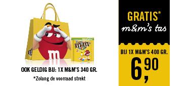 Gratis M&M's tas