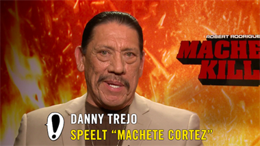 Machete Kills - interviews: Danny Trejo, Alexa Vega, Robert Rodriguez