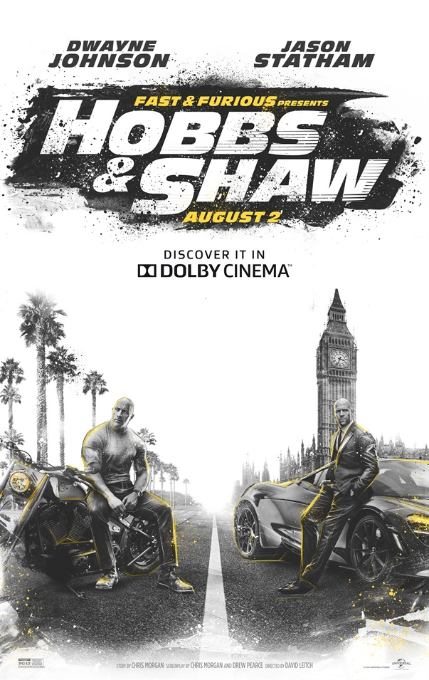 Fast & Furious: Hobbs & Shaw in the cinema Trailer, Times