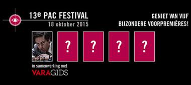 Zondag 18 oktober: 13e editie PAC Festival