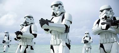 Diverse stills van Rogue One: A Star Wars Story