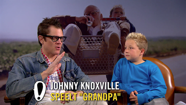 Jackass presents: Bad Grandpa - interviews: Johnny Knoxville, Jackson Nicoll, Jeff Tremaine